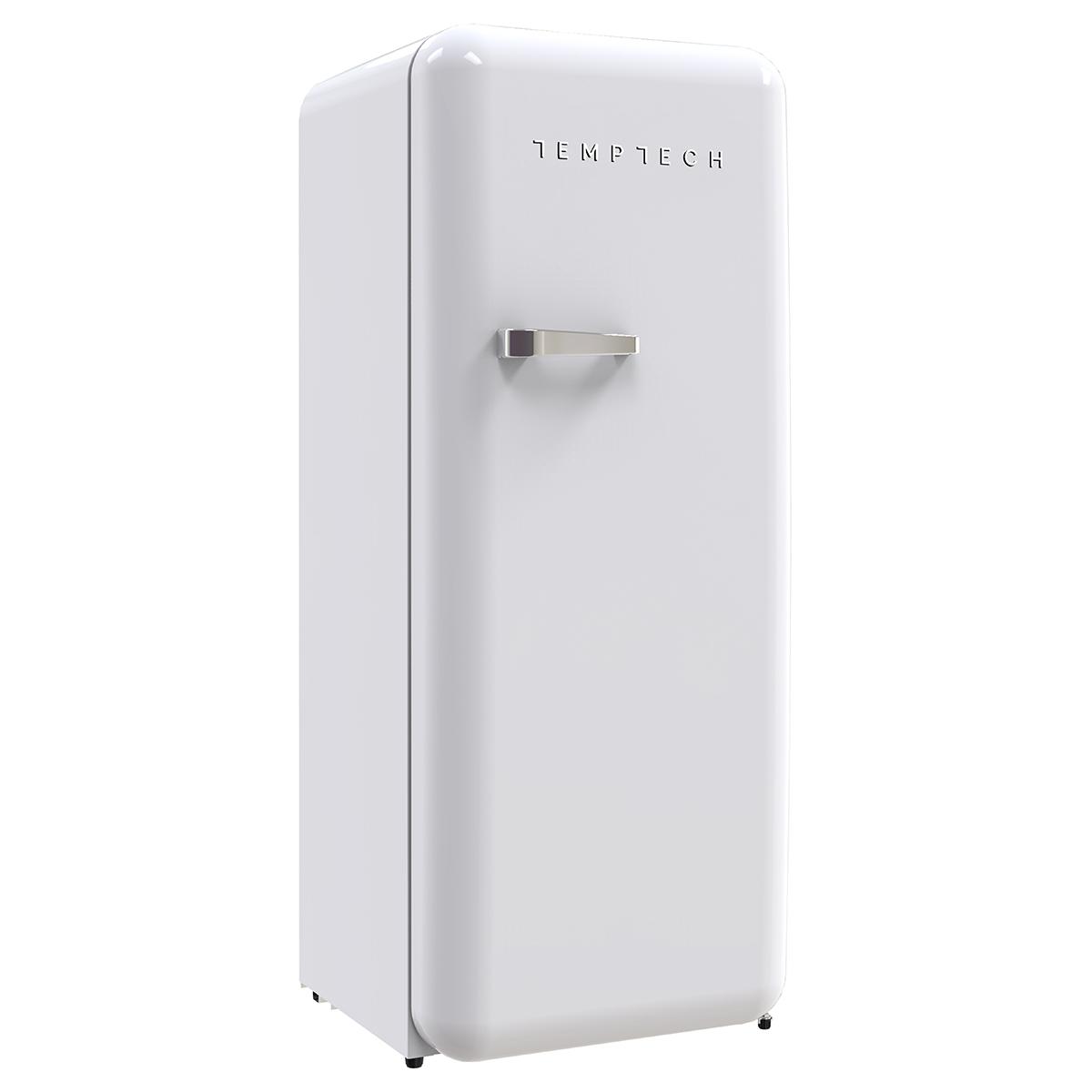 53ecf37a Kombiskap med kjøl og frys Stilig retrodesign Justerbare hyller,  flaskeholder og grønnsaksskuff Energiklasse A+